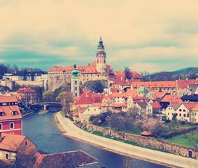 Spring view of Cesky Krumlov. Czech republic