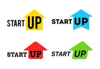 Start up symbol with arrow pack