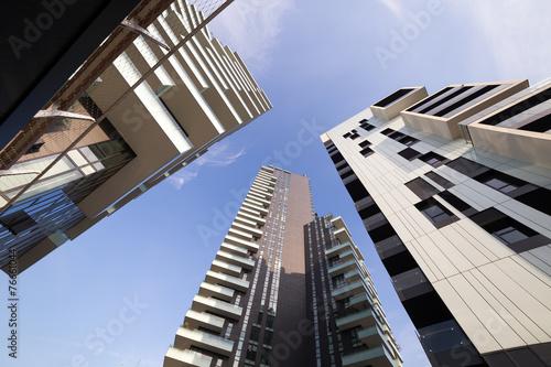 canvas print picture Grattacielo e palazzi a Milano zona nuova