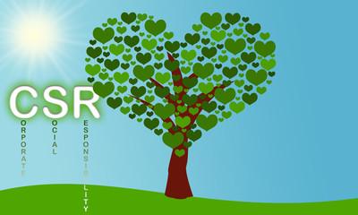 Herzbaum als Symbol für Corporate Social Responsibility