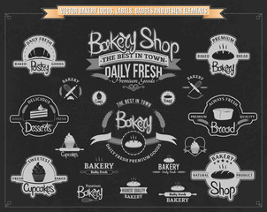 Vector Bakery Logos, Labels, Badges and Design Elements