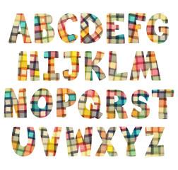Colorful children squares alphabet