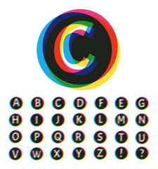 Trendy Colorful Alphabet Set