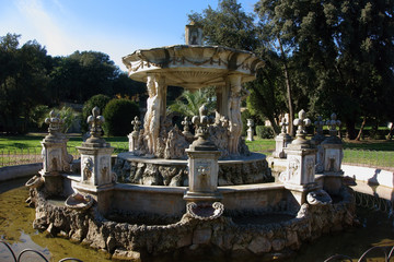 Baroque Fountain in Villa Pamphili, Rome