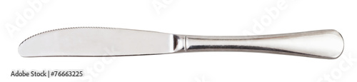 canvas print picture steel serving knife - cutlery isolated on white