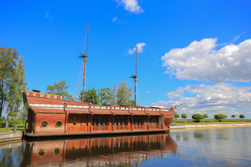 Galleon ship-restaurant in Mezhyhirya