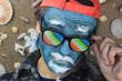crazy blue man