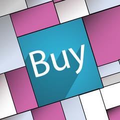 Buy icon symbol Flat modern web design with long