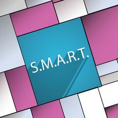 Smart  icon symbol Flat modern web design with lo