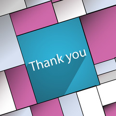 Thank you icon symbol Flat modern web design w