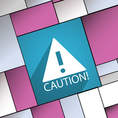 Attention caution icon symbol Flat modern web de