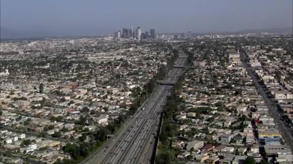 Los Angeles city freeway