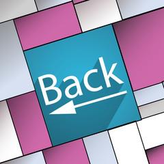 Back Arrow icon symbol Flat modern web design w