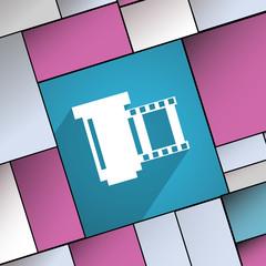 negative films icon symbol Flat modern web desig
