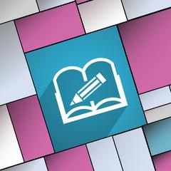 Open book icon symbol Flat modern web design w