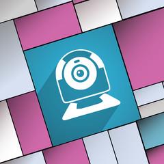 Webcam icon symbol Flat modern web design with