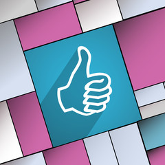 Thumb up icon symbol Flat modern web design wi
