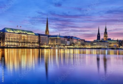 Leinwandbild Motiv Alster in Hamburg
