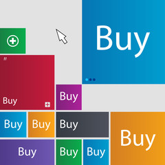 Buy sign icon. Online buying dollar usd button. Set