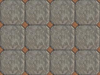 Ethnic Arabic ornaments pattern tiles design