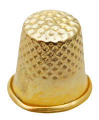 old sewing thimble isolated on white