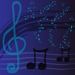 Абстрактный фон на тему музыки