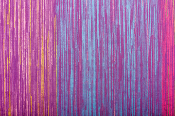 Colorful striped textile