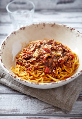 Linguine with bolognese sauce