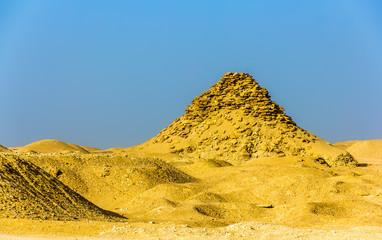 View of the Pyramid of Userkaf at Saqqara - Egypt
