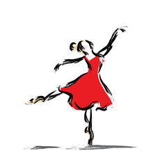 Gesture dancer drawing