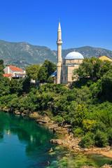 Koski Mehmed Pasha Mosque in Mostar, Bosnia and Herzegovina.