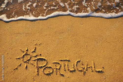 In de dag Golven Portugal beach