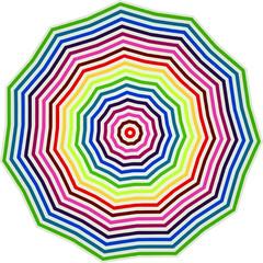 ombrellone multicolore visto dall'alto