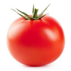 Ripe red fleshy tomatoes