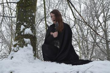 Lady im Schnee
