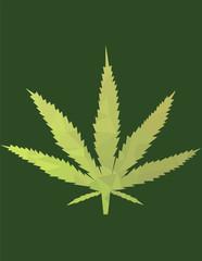 foglia vettoriale geometrica di marijuana