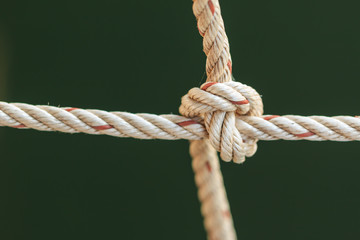Old fishing boat rope with a Tied Knot