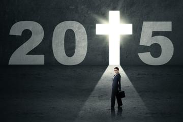Christian businesswoman on spiritual way