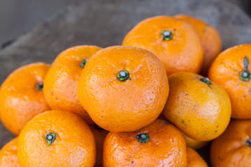 the orange fruit