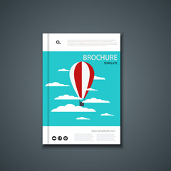 Vector flyer or banner. Brochure template design.