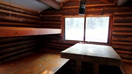 Wood Winter Snow Trees Cabin