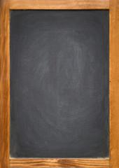 blank chalkboard in a wooden frame