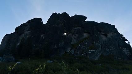 Sunlight Moving Through Rock