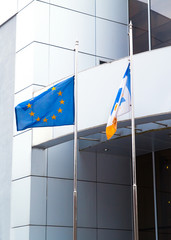 The Flags of the European Union, and other on office business bu