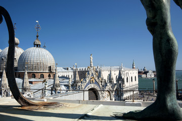 View of St Mark Basilica and Doge's Palace from Clock Tower