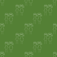 UFO seamless pattern