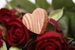 canvas print picture - herz  mit rosen