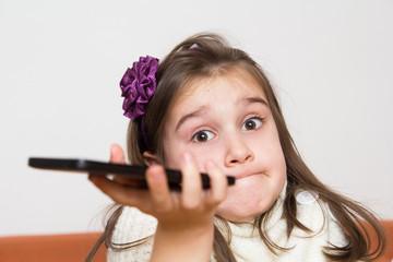 Little girl using mobilephone