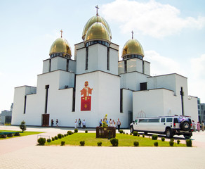 Temple, church with gold dome