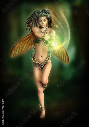 Fairy with a shining Ball, 3d CG - 76679889